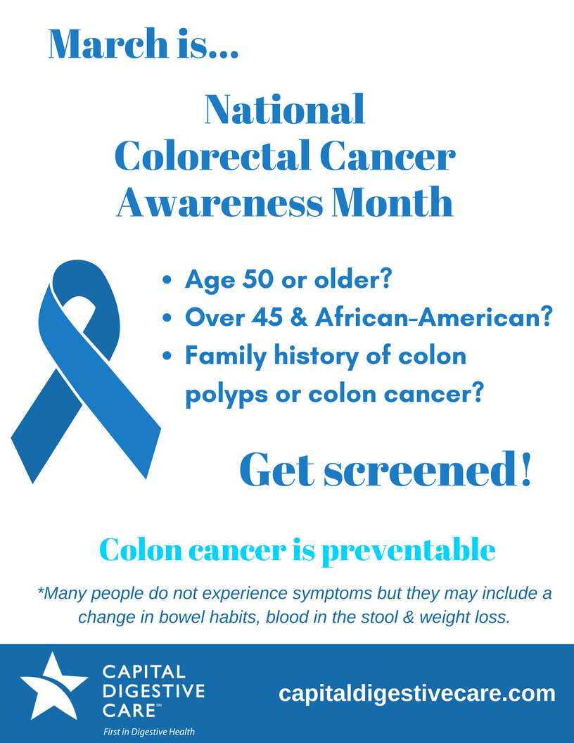 Colorectal Cancer Awareness Month 2018 Capital Digestive Care