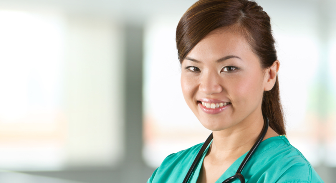 Smiling Asian Female Nurse