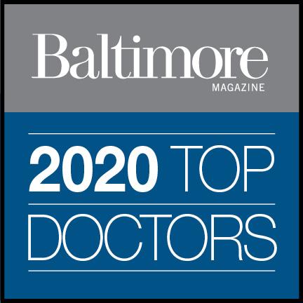 Graphic saying Baltimore Magazine, 2020 Top Doctors