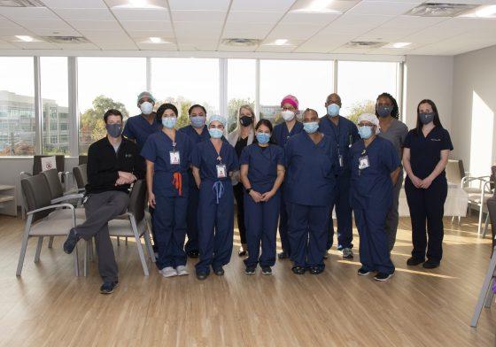 Fallsgrove Endoscopy Center Employees in masks
