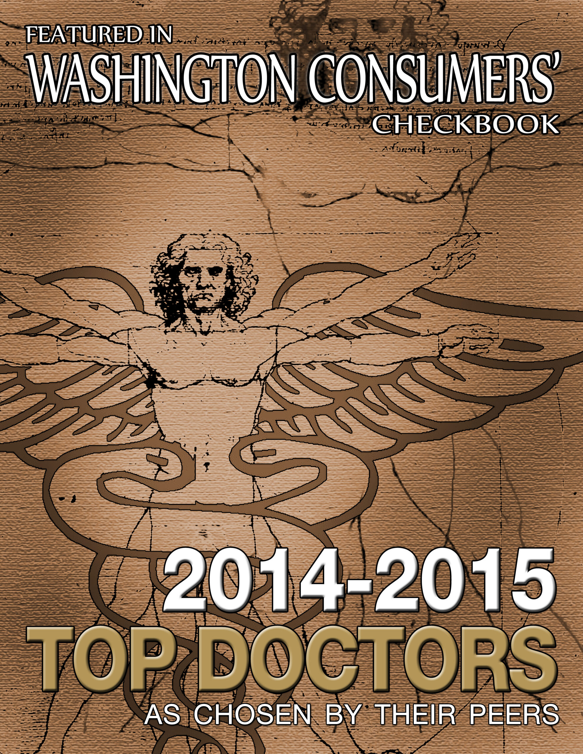 Graphic saying featured in Washington Consumers' Checkbook 2014-2015 Top Doctors as chosen by their peers