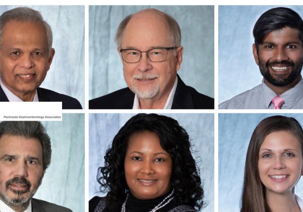 Peninsula Gastroenterology Associates headshots collage