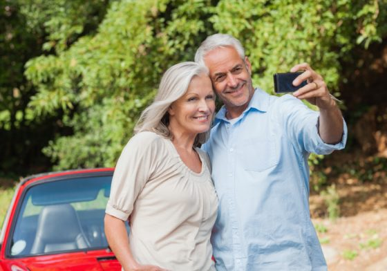 Baby Boomers taking a selfie