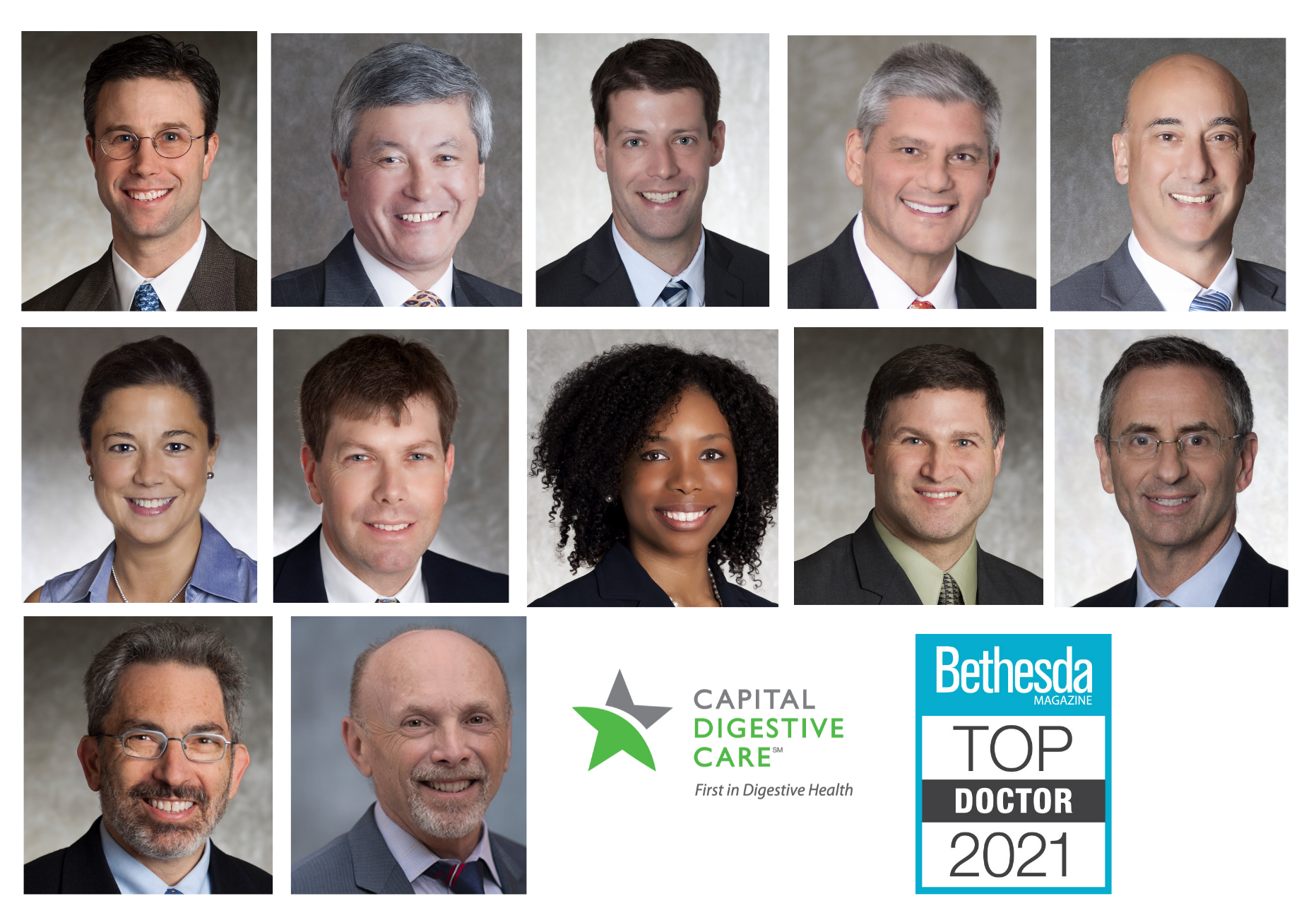 """Twelve Capital Digestive Care Physicians Named """"Top Doctors"""" by Bethesda Magazine"""