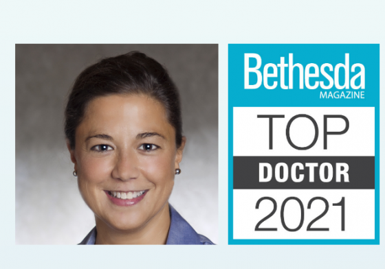 Dr. Kirk headshot and Top Docs logo