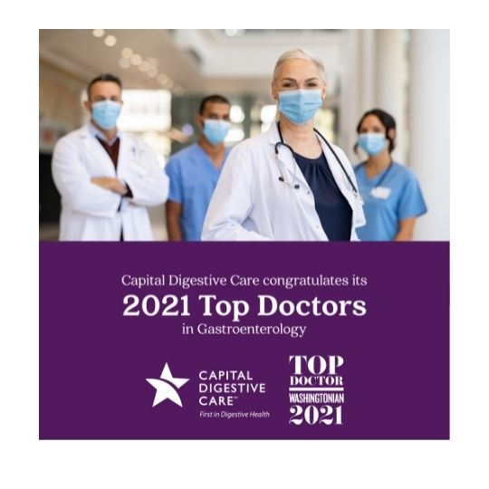 26 Capital Digestive Care Physicians Recognized as Top Doctors in Washingtonian Magazine